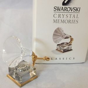 Swarovski Gramophone 1995 NIB Crystal Memories